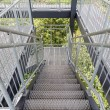 Stockfoto: Steel staircase of observation tower in forest