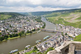 Aerial view of BernKastel-Kues at the river Moselle in Germany — Stock Photo