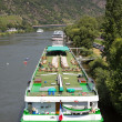 Stock Photo: Cruise ships near Cochem at river Moselle in Germany