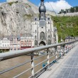 Dinant in the Belgium Ardennes on River Meuse — Stock Photo