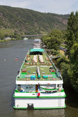 Cruise ships near Cochem at the river Moselle in Germany — Stock Photo