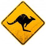 Kangaroo Vintage Sign — Stock Vector