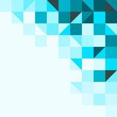 Blauwe achtergrond met driehoeken en vierkanten — Stockvector