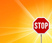 Stop Sign and Sunshine — Stock Vector