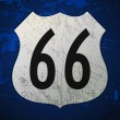 Royalty-Free Stock ベクターイメージ: Blue Route 66 Sign