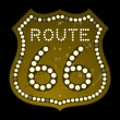 Illuminated Route 66 Sign — Stock Vector #11986885
