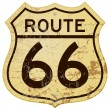 Rusty Route 66 — Stock Vector