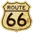 Stock Vector: Rusty Route 66