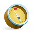 Speedometer Icon Illustration — Stock Vector