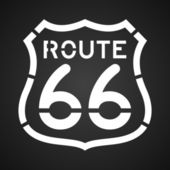 Asphalt Route 66 Paint — Stock Vector