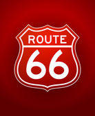 Red Route 66 Silhouette — Stock Vector