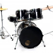 Drum set on white - studio shot — Stock Photo #11780371
