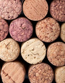 Background pattern of wine bottles corks — Stock Photo