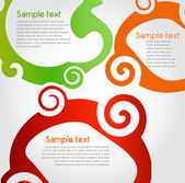 Colorful text box — Stock Vector