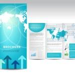 Blue brochure design — Stock Vector #11020576
