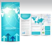Blue brochure design — Stock Vector