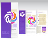 Brochure design — Vector de stock