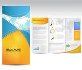 Vector diseño de folleto — Vector de stock