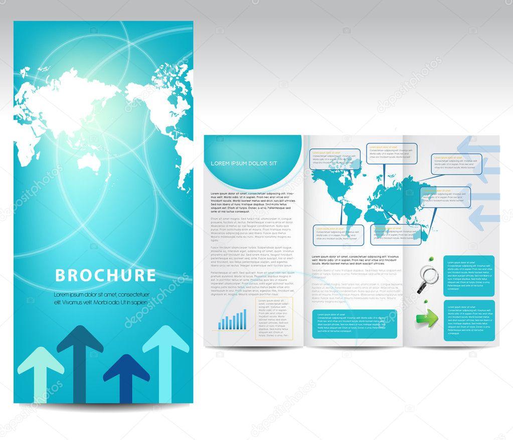 blue brochure design  u2014 stock vector  u00a9 timea  11020576