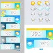 Vector Weather symbols and — Stock Vector