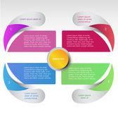 Vijf delen presentatie — Stockvector