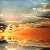 Wasser und himmel hintergrund — Stockfoto