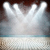Background in show. Interior shined with a projector — Stock Photo