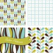 Retro patterns — Vector de stock #11390549