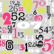 Numbers background - Stockvectorbeeld