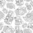 Old camera pattern — Stock Vector
