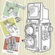 Travel with your vintage camera. - Stock Vector