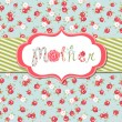Mothers Day card — Stock Vector