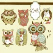 Owls - Stock Vector