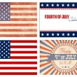 American Set - Stock Vector