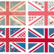Stock Vector: British Flags