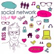 Social media - Imagen vectorial