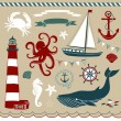 Nautical and Sea Set — Stock Vector #11395171