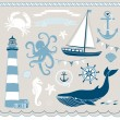 Nautical and Sea Set — Stock Vector #11395173