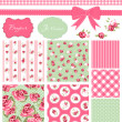 Vecteur: Vintage Rose Pattern