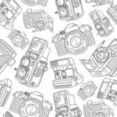 Old camera pattern — Stock Vector