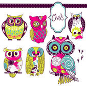 Owls — Vector de stock