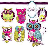 Owls — Stockvektor