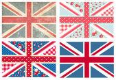Banderas británicas — Vector de stock