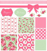 Vintage Rose Pattern — Stockvektor