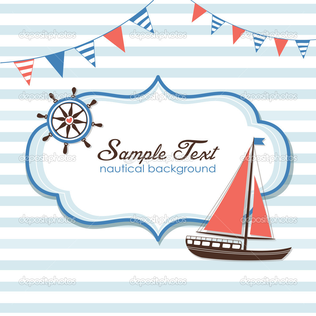 Nautical card  Stock Vector #11395174