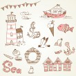 Stock Vector: Sea doodles