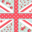 Cute British Flag in Shabby Chic floral style — Stock Vector #11512149