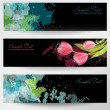 Set of three banners. — Stock Vector