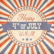 Royalty-Free Stock Vector Image: Independence Day greeting card in vintage style