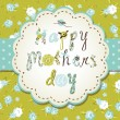 Template frame design for a Mother Day card - Stock Vector